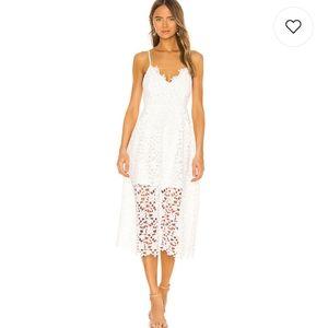 ASTR the Label Lace Midi Dress in white